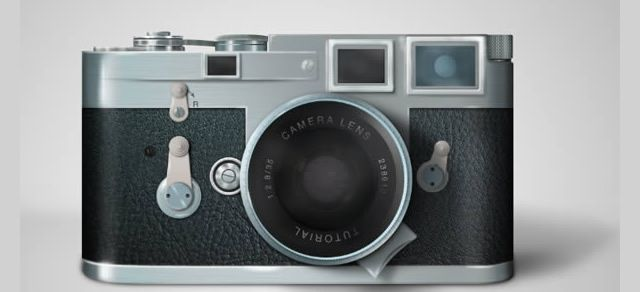 Draw Leica Camera Photoshop Tutorial