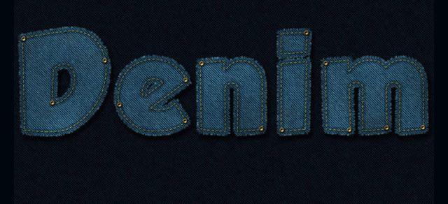 Stitched Denim Text Effect Photoshop Tutorial
