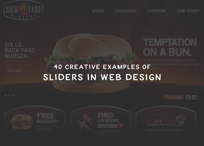 40 Creative Examples of Sliders in Web Design for Inspiration