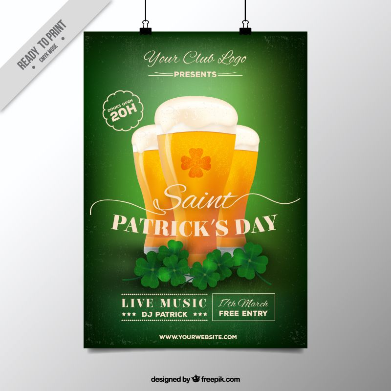 freebie 5 free flyer poster templates for st patrick s day