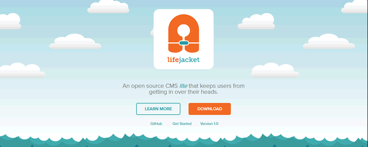 Lifejacket open-source CMS lite that keeps users from being in over their heads