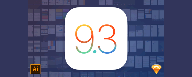 Freebie iOS9 UI kit Illustrator ai Sketch