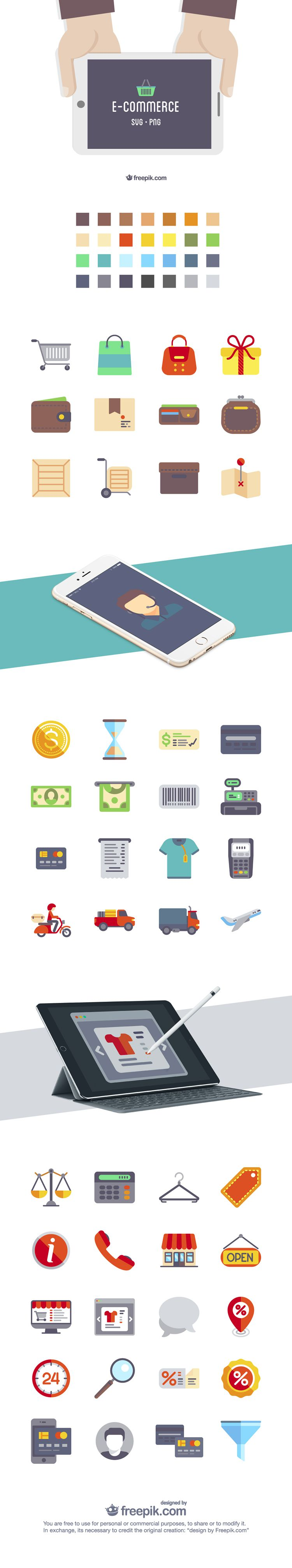 freebie Ecommerce Shopping Icon Set svg png hero screenshot