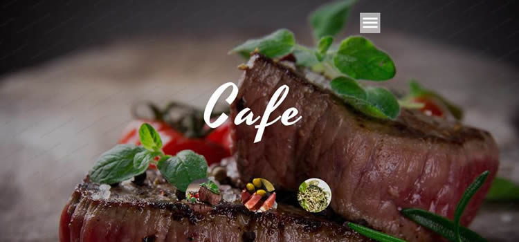 Cafe Restaurant html5 burger menu full-screen slider burger menu full-screen slider template website responsive