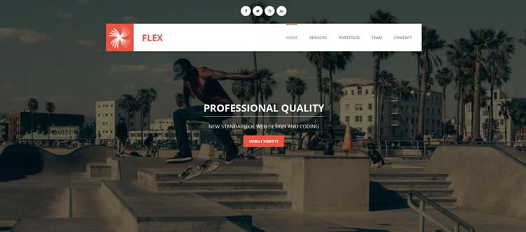 Flex CV portfolio lightbox gallery html5 template website responsive