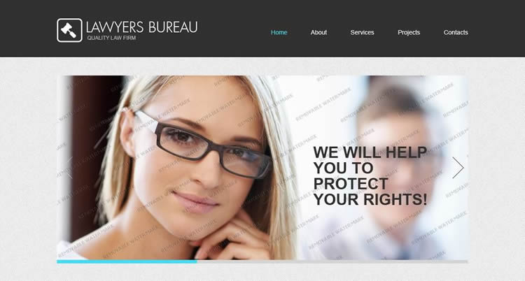 Lawyers Bureau clean minimal layout html5 template website responsive