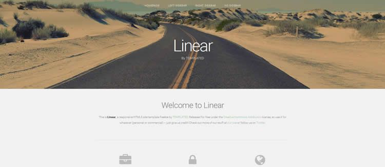 Linear html5 parallax effect clean layou template website responsive