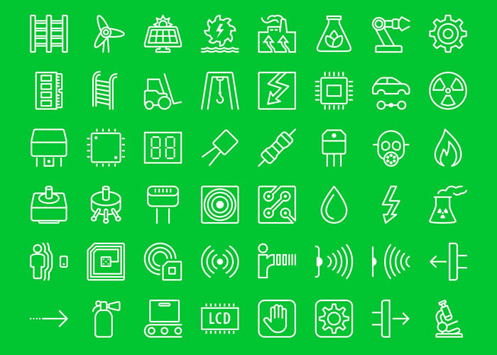 60 Free iOS-Style Industrial Icons in PSD, EPS, PNG & SVG Formats