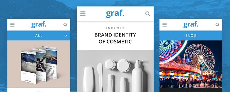Graf Mobile Portfolio UI Kit Photoshop