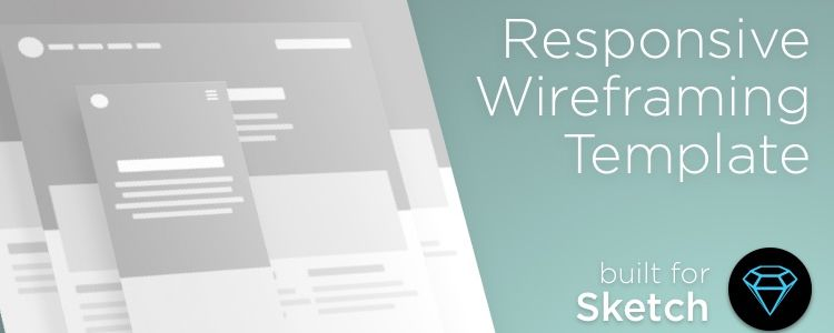 Responsive Wireframe Template Sketch