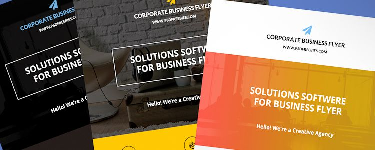 Flat Clean Corporate Business Free Flyer Photoshop