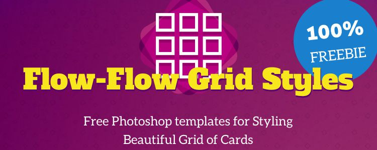 Flow-Flow Social Cards Template Style Guide Photoshop