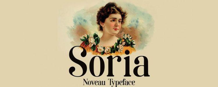 Soria Art Nouveau Inspired Font