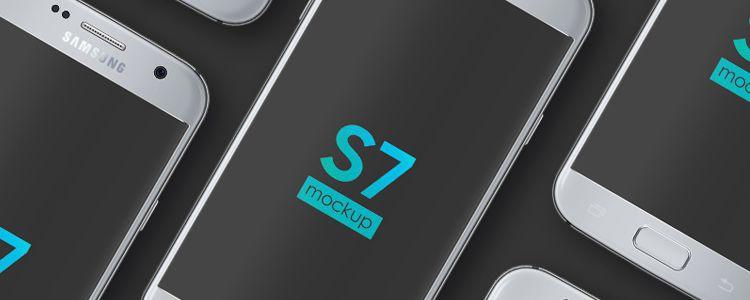 Free Galaxy S7 Mockup Photoshop