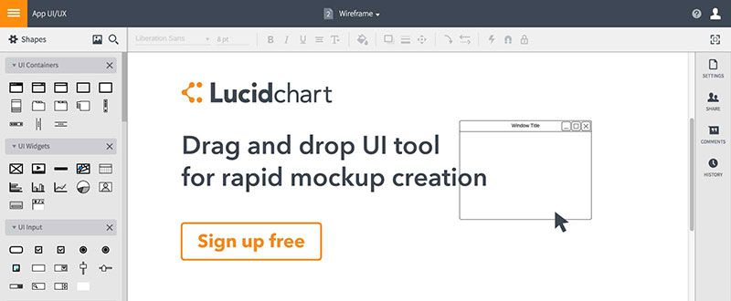 ux ui prototype application app web tool resource user experience Lucidchart