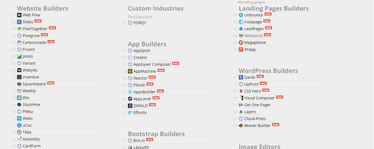 Tools to Build Websites Logos Resumes