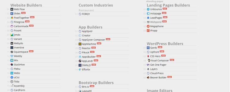 Tools to Build Websites Logos Resumes