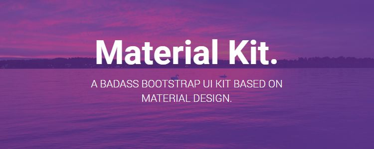 Material Kit Free Bootstrap UI Kit Based Design