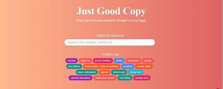 Good Copy Email Copy Examples From Great Companies