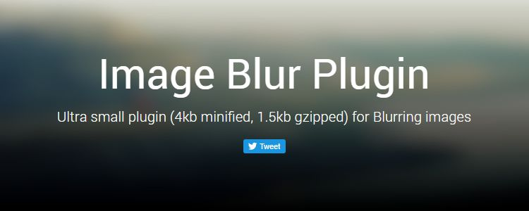 Image Blur Plugin Ultra Small jQuery Plugin Blurring Images