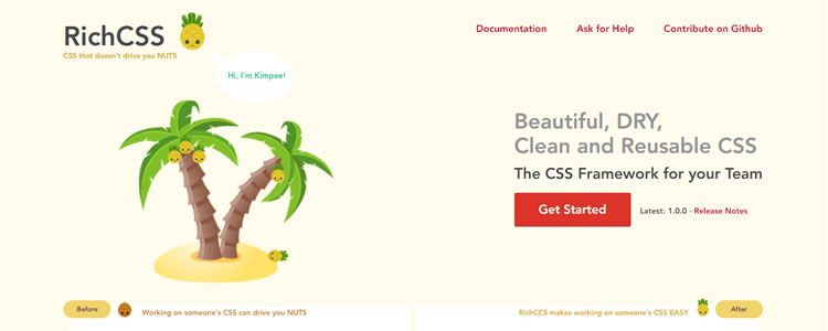 RichCSS Framework Beautiful DRY Clean Reusable CSS