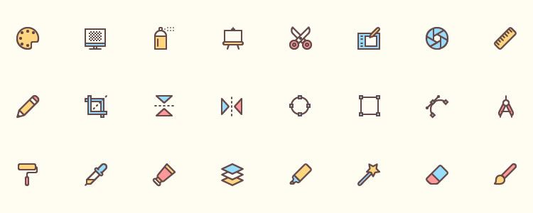 Freebie 40 Design Icons AI EPS SVG PNG