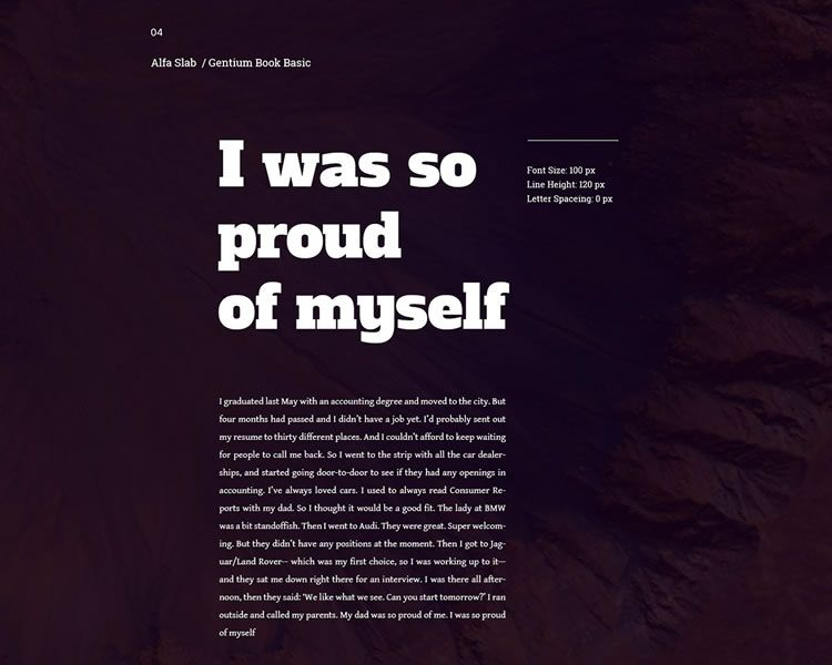 Google Fonts Combination Design Inspiration