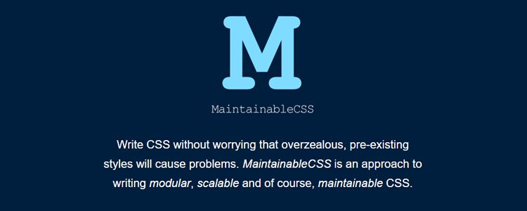 MaintainableCSS approach writing modular scalable maintainable CSS