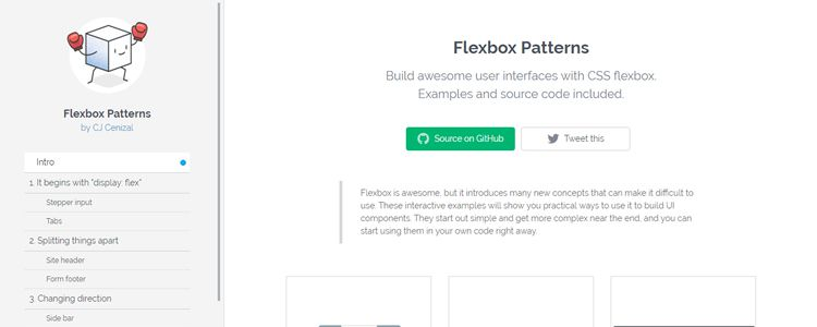 Flexbox Patterns Build awesome user interfaces with CSS