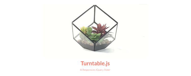 Turntable.js responsive jQuery slider rotate through list of images