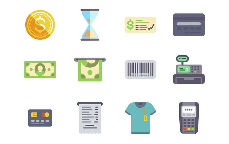 Freebie PNG SVG Flat eCommerce Icon Set