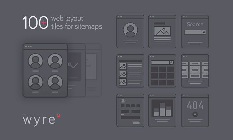 Freebie Wyre Web Layout Flowcharts AI EPS SVG