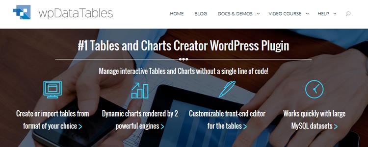 wpDataTables WordPress superhero time of need