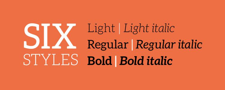Aleo slab free font family typeface
