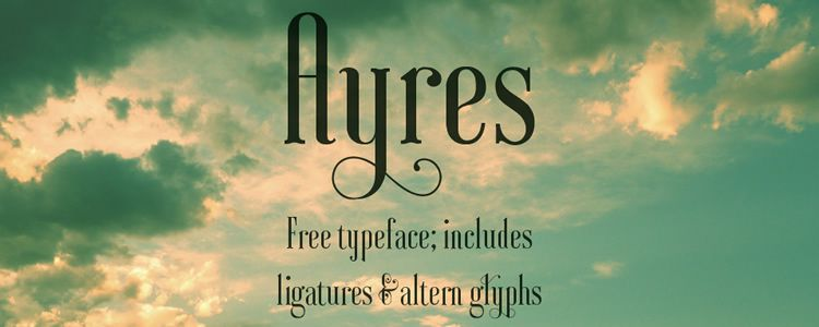 Ayres serif free font family typeface