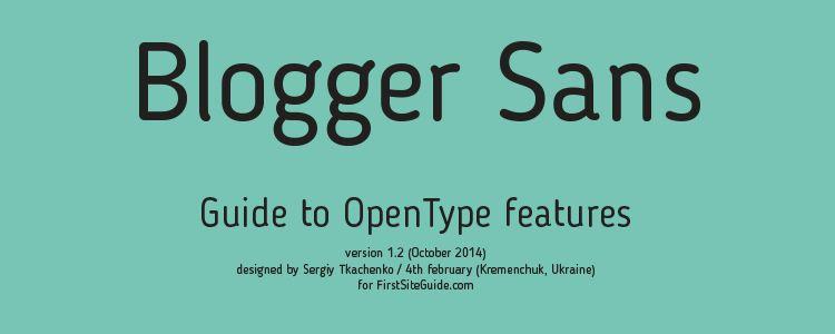 Blogger sans serif free font family typeface
