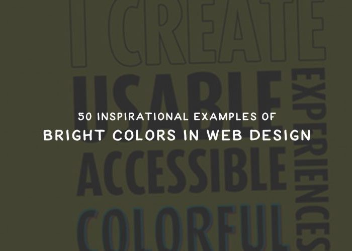 50 Inspirational Examples of Bright Colors in Web Design