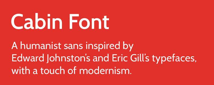 Cabin sans serif free font family typeface