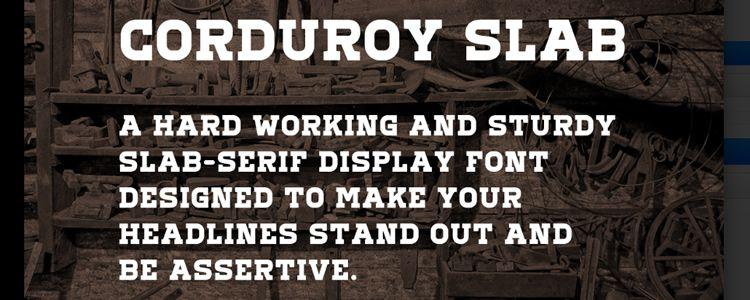 Corduroy slab free font family typeface
