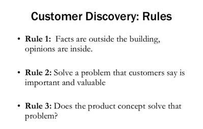 customer discovery rules