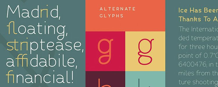 Fibon sans serif free font family typeface