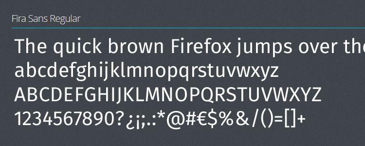 Fira sans serif free font family typeface
