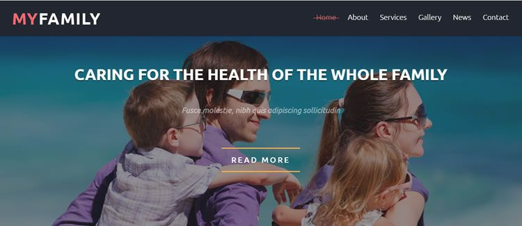 Family Center seo bootstrap free joomla template