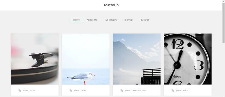 Photographer Portfolio grid animation free joomla template