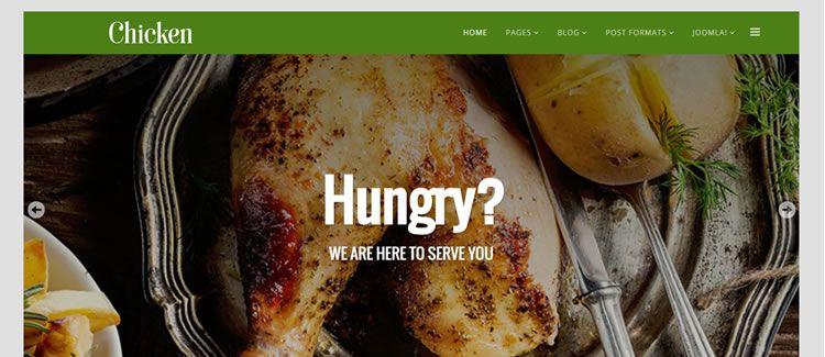 Chicken Helix3 Framework free joomla template