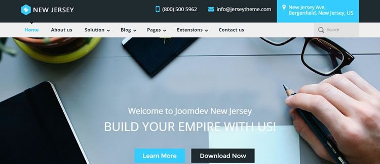 JD NewJersey VirtueMart ecommerce forum free joomla template