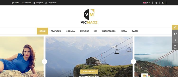 SJ VicMagz magazine blog content YT Framework V3 free joomla template