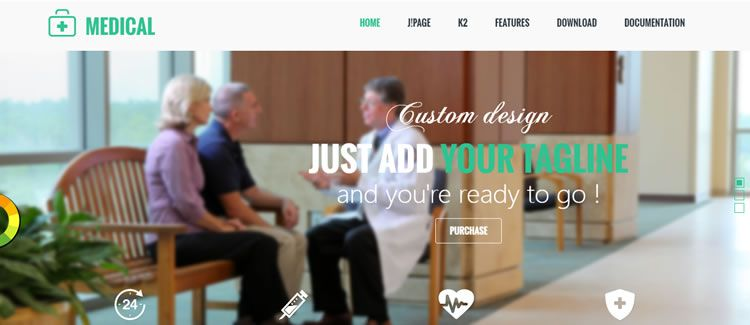 AT Medical free joomla template