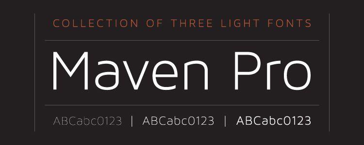 Maven Modern sans serif free font family typeface