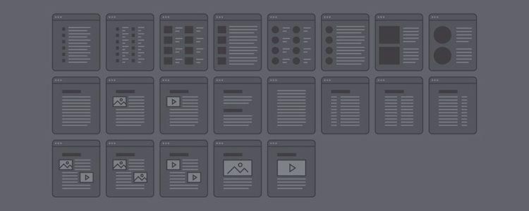 Wyre Web Layout Flowcharts AI EPS SVG